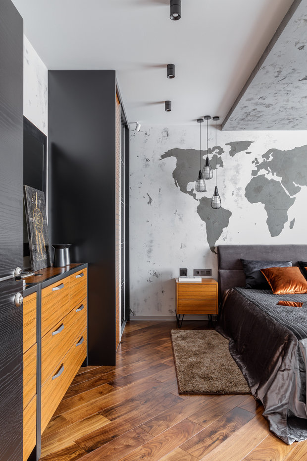 """Фото из портфолио Фото спальни реализованного проекта квартиры, расположенной в ЖК """"Центральном"""". – фотографии дизайна интерьеров на INMYROOM"""