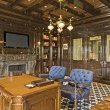 Фотография: Кабинет в стиле Классический, Дома и квартиры, Интерьеры звезд, Нью-Йорк – фото на InMyRoom.ru