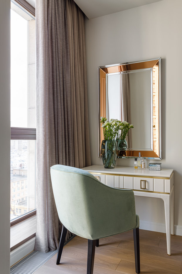 Фотография: Спальня в стиле Современный, Квартира, Проект недели, Москва, 3 комнаты, Более 90 метров, Balcon – фото на INMYROOM