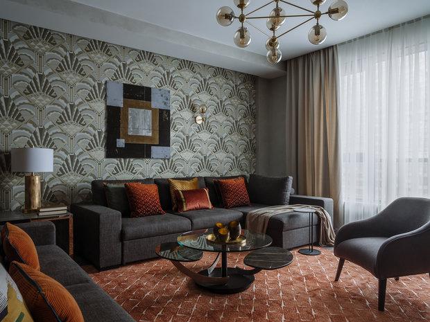 Фотография: Гостиная в стиле Современный, Квартира, Проект недели, Москва, 4 и больше, Более 90 метров – фото на INMYROOM