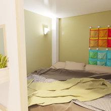 Фото из портфолио Детская комната с магнитно-грифельным покрытием – фотографии дизайна интерьеров на INMYROOM
