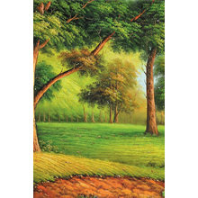 "Триптих на холсте ""Таинственный лес"""
