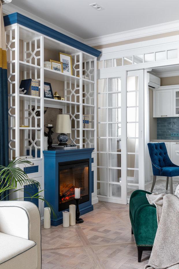 Фотография: Гостиная в стиле Классический, Квартира, Проект недели, Краснодар, 2 комнаты, 60-90 метров, Алиса Свистунова – фото на INMYROOM
