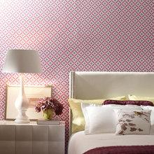 Фотография: Спальня в стиле Современный, Декор интерьера, Дизайн интерьера, Цвет в интерьере, Обои – фото на InMyRoom.ru