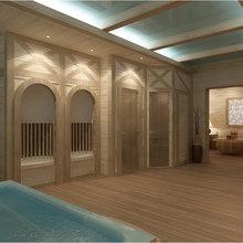 Фото из портфолио Интерьер банного комплекса – фотографии дизайна интерьеров на INMYROOM