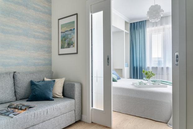 Фотография: Спальня в стиле Минимализм, Современный, Квартира, Проект недели, Марина Саркисян, Долгопрудный, 1 комната, 40-60 метров – фото на INMYROOM
