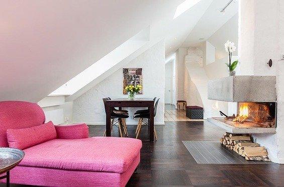 Фотография: Гостиная в стиле Прованс и Кантри, Декор интерьера, Квартира, Дома и квартиры, Пентхаус, Стокгольм, Мансарда – фото на InMyRoom.ru