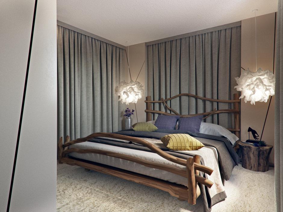 Фотография: Спальня в стиле Эко, Дом, Проект недели, Дача, Волгоград, 4 и больше, Более 90 метров, Дизайн-студия Leгко – фото на InMyRoom.ru