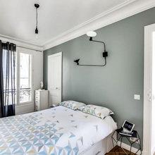 Фотография: Спальня в стиле Скандинавский, Малогабаритная квартира, Советы, Белый – фото на InMyRoom.ru