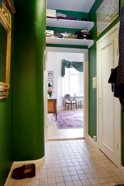 Фотография: Прихожая в стиле Скандинавский, Эклектика, Гостиная, Классический, Малогабаритная квартира, Квартира, Дома и квартиры, Стокгольм – фото на InMyRoom.ru