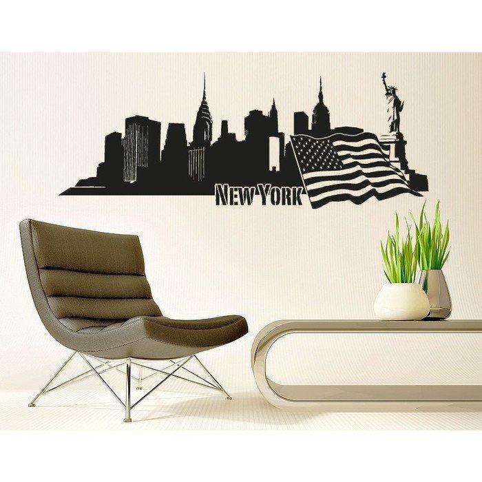 Виниловая наклейка панорама New York
