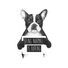 Принт «Being normal is boring» by Balazs Solti