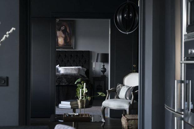 Фотография: Спальня в стиле Современный, Декор интерьера, Квартира, Швеция, Черный, 2 комнаты – фото на InMyRoom.ru