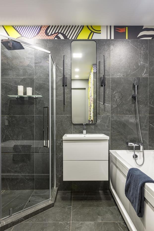 Фотография: Ванная в стиле Современный, Квартира, Проект недели, Санкт-Петербург, 2 комнаты, 60-90 метров, Balka.Studio – фото на INMYROOM