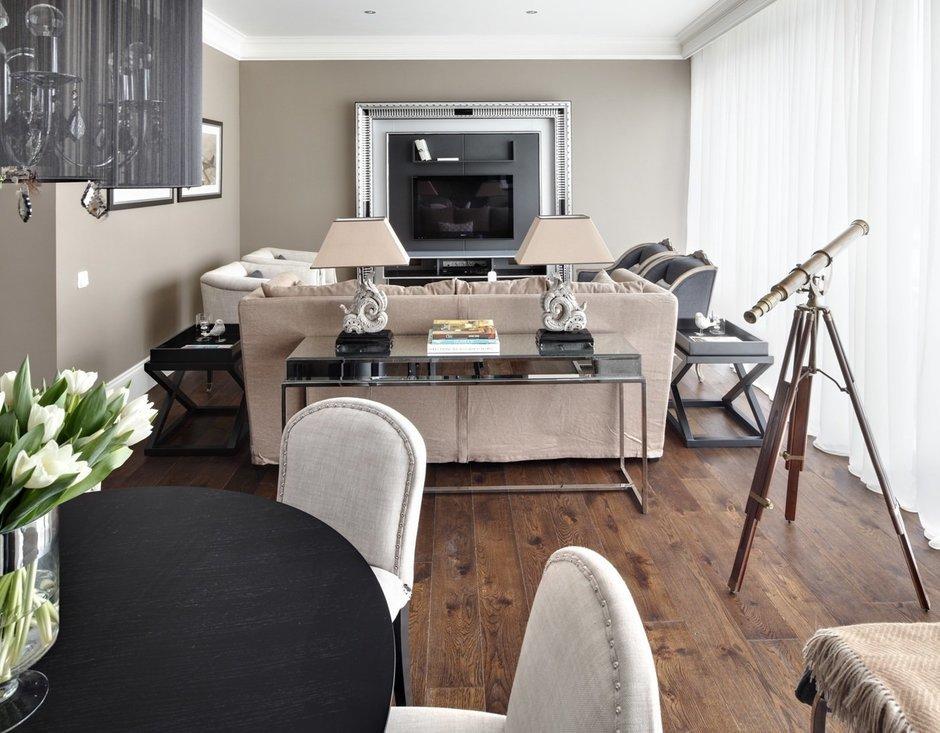 Фотография: Гостиная в стиле Современный, Квартира, Текстиль, Дома и квартиры – фото на InMyRoom.ru
