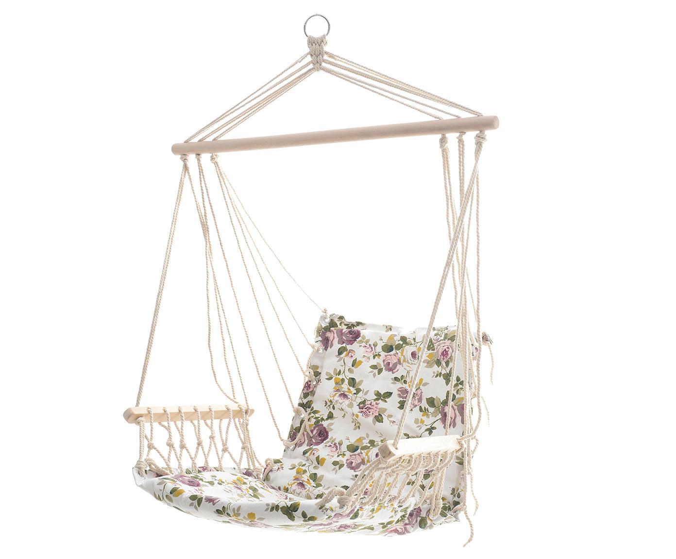Кресло-гамак с фиолетовыми цветами