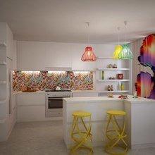Фотография: Кухня и столовая в стиле Современный, Эклектика, Квартира, Дома и квартиры, Минимализм – фото на InMyRoom.ru