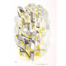 Картина (репродукция, постер): Graphs composition, 1953 - Эрнст Метер-Боргстром
