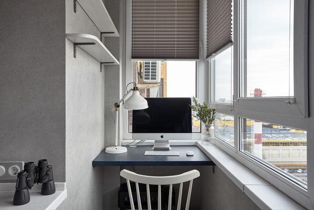 Фотография: Балкон в стиле Современный, Квартира, Проект недели, Санкт-Петербург, 3 комнаты, 60-90 метров, Нина Симонова – фото на INMYROOM