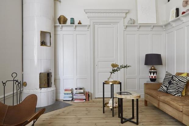 Фотография: Гостиная в стиле Эклектика, Скандинавский, Декор интерьера, Малогабаритная квартира, Квартира, Студия, Швеция, Стокгольм – фото на InMyRoom.ru