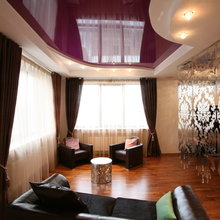 Фотография: Гостиная в стиле Современный, Декор интерьера, натяжные потолки в комнате – фото на InMyRoom.ru