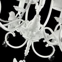 Подвесная люстра Maytoni Passarinho с белыми абажурами