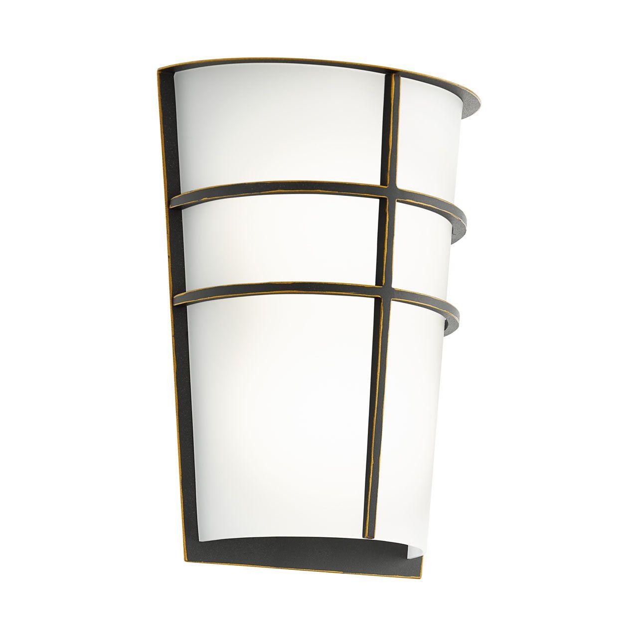 Уличный настенный светодиодный светильник Eglo Breganzo с плафоном из пластика