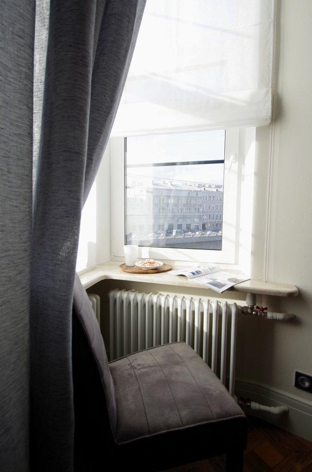Фотография: Гостиная в стиле Лофт, Эклектика, Малогабаритная квартира, Квартира, Студия, Проект недели, Санкт-Петербург, Анастасия Киселева, Кирпичный дом, до 40 метров – фото на INMYROOM