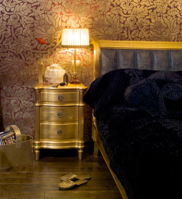 Фотография: Спальня в стиле Классический, Современный, Эклектика, Декор интерьера, МЭД, Мебель и свет, Краска – фото на InMyRoom.ru