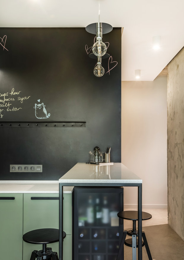 Фотография: Кухня и столовая в стиле Лофт, Современный, Квартира, Проект недели, Киев, Boho Studio, 3 комнаты, 60-90 метров – фото на INMYROOM