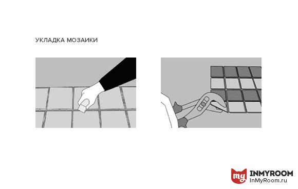 Фотография:  в стиле , Мозаика, Ремонт на практике – фото на InMyRoom.ru