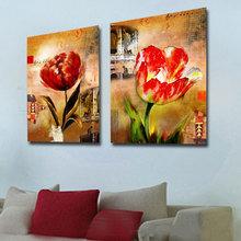 Декоративная картина: Распустившиеся тюльпаны