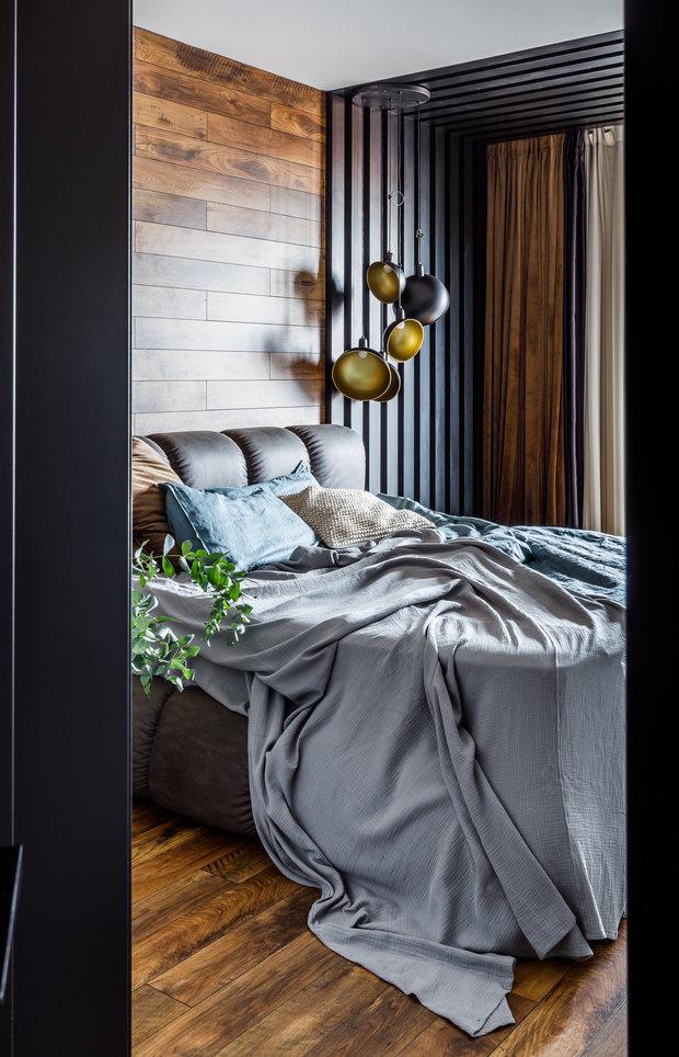 Фотография: Спальня в стиле Лофт, Современный, Квартира, Проект недели, Краснодар, Монолитный дом, 2 комнаты, 60-90 метров, Ксения Демина – фото на INMYROOM