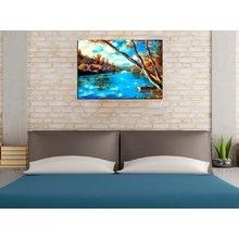 """Стильная картина для декора стен """"Берег голубой реки"""""""