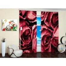Дизайнерские фотошторы:  Лепестки роз