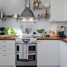 Фотография: Кухня и столовая в стиле Скандинавский, Малогабаритная квартира, Советы, Елена Булагина – фото на InMyRoom.ru
