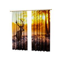 Оригинальные фотошторы: Лесной олень