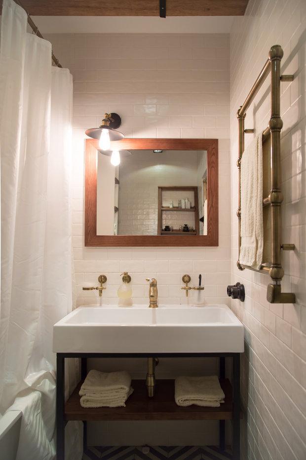 Фотография: Ванная в стиле Лофт, Квартира, Украина, Проект недели, Монолитный дом, 3 комнаты, 60-90 метров, Роман Луценко, Днепр – фото на INMYROOM