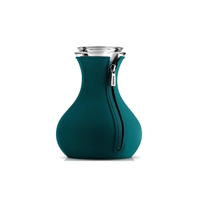 Чайник заварочный в неопреновом чехле, голубая лагуна