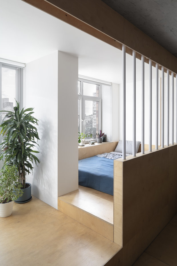 Фотография: Спальня в стиле Минимализм, Квартира, Студия, Проект недели, Москва, 40-60 метров, Схема – фото на INMYROOM