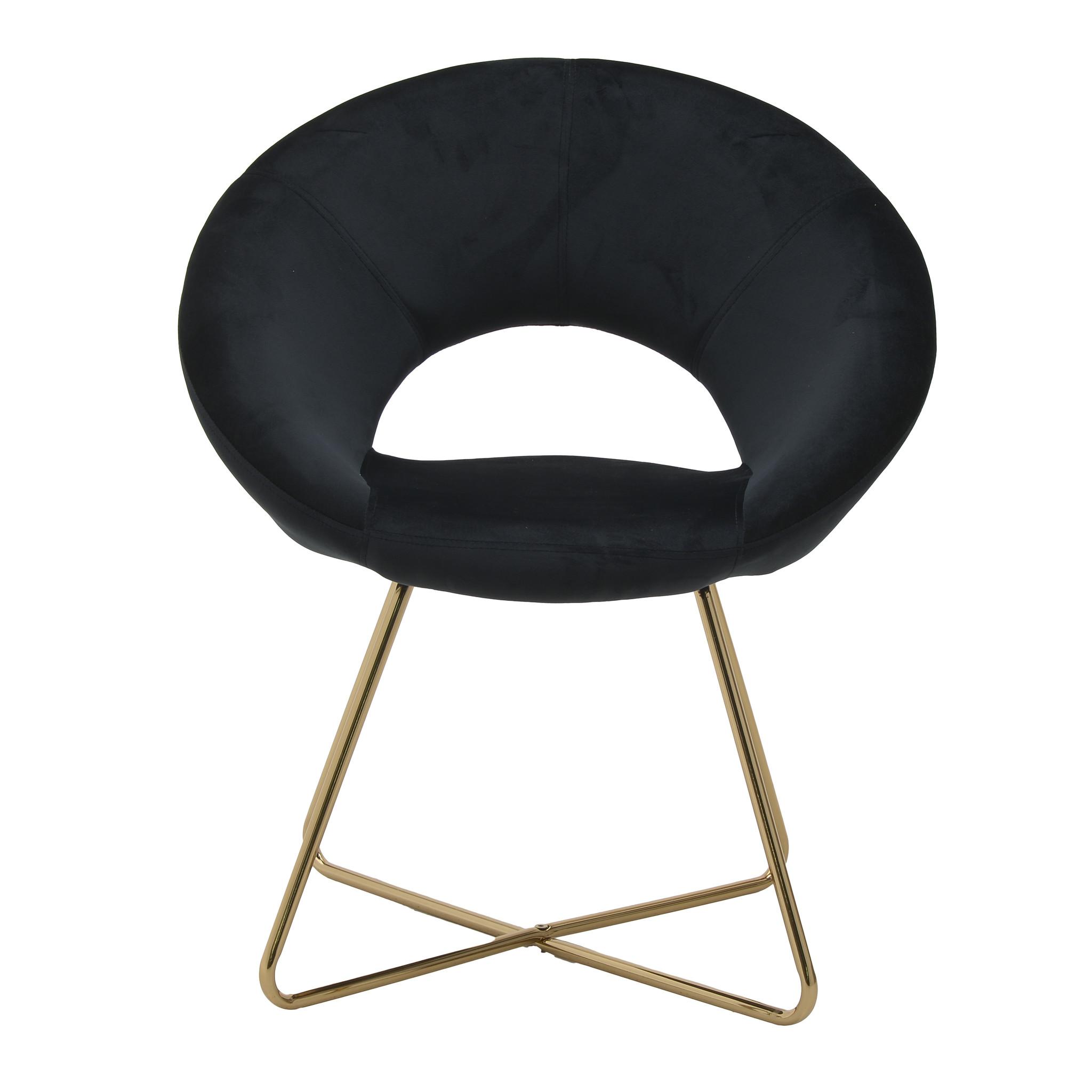 Купить Кресло интерьерное черного цвета, inmyroom, Греция