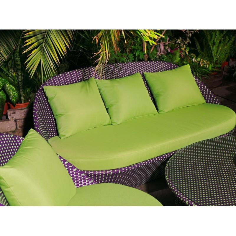 Диван ландыши с подушками фисташкового цвета