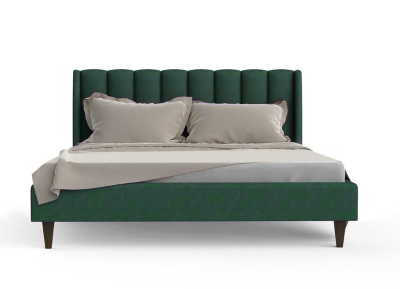 Купить со скидкой Кровать клэр темно-зеленого цвета 160х200