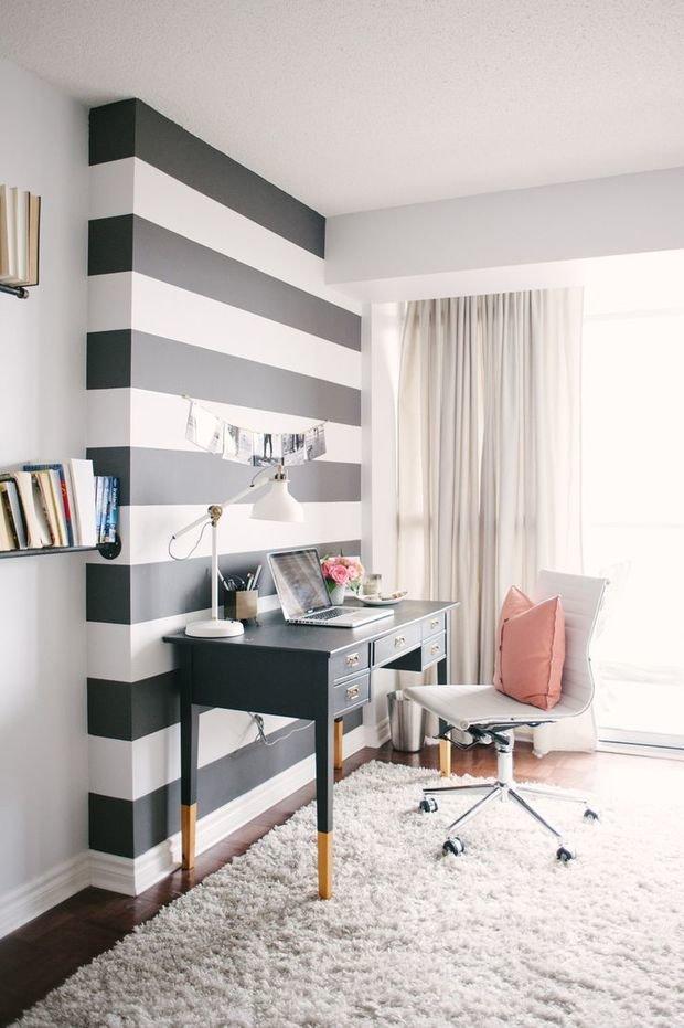 Фотография: Офис в стиле Скандинавский, Современный, Декор интерьера, Дизайн интерьера, Цвет в интерьере, Белый, Синий, Серый – фото на InMyRoom.ru