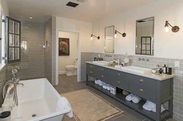 Фотография: Ванная в стиле Современный, Дом, Дома и квартиры, Интерьеры звезд – фото на InMyRoom.ru