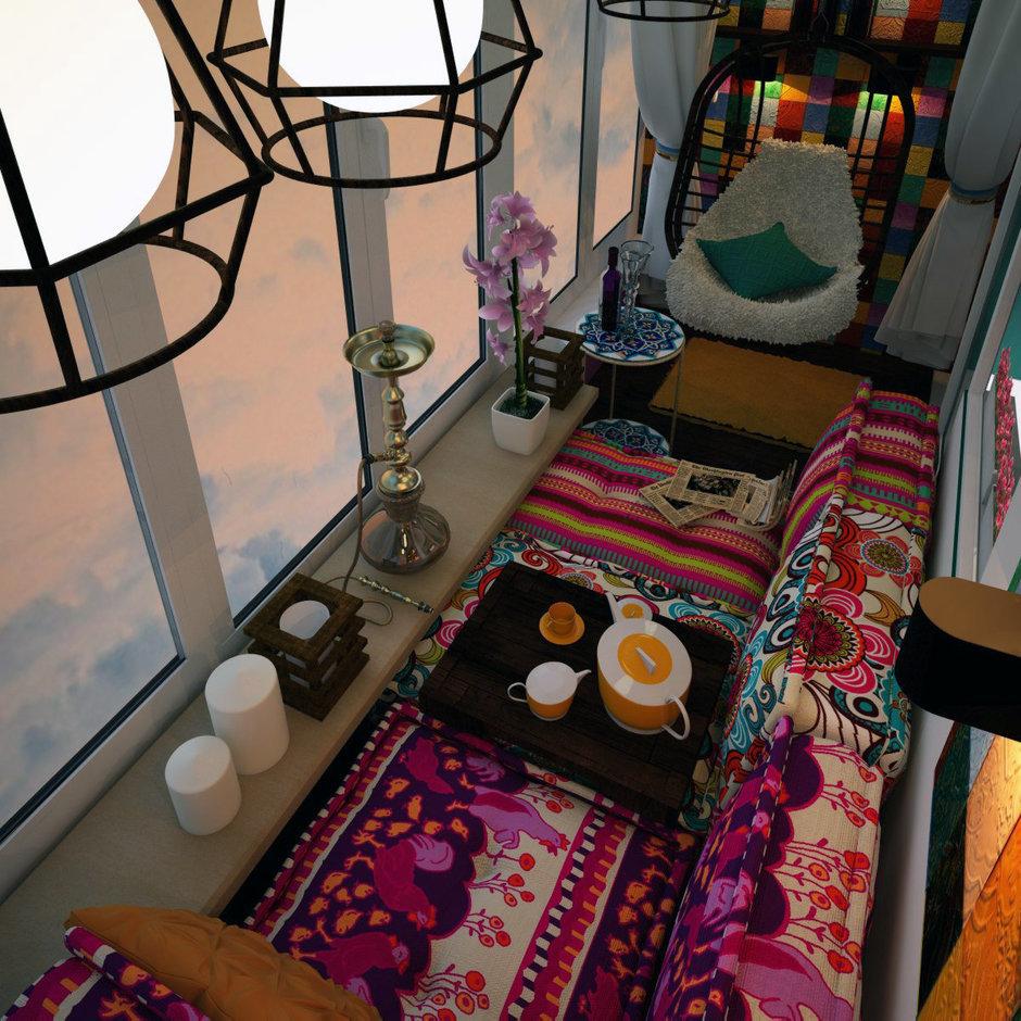 Фотография: Балкон, Терраса в стиле Восточный, Интерьер комнат – фото на InMyRoom.ru