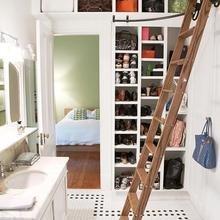 Фотография: Спальня в стиле Скандинавский, Гардеробная, Хранение, Интерьер комнат – фото на InMyRoom.ru