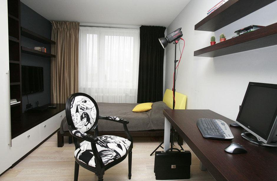 Фотография: Спальня в стиле Эклектика, Квартира, Дома и квартиры, Перепланировка, Ремонт – фото на InMyRoom.ru