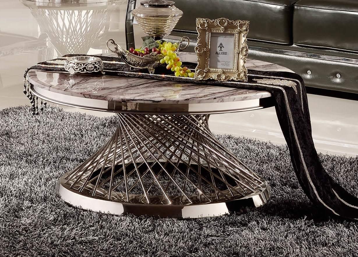 Журнальный стол со столешницей из искусственного мрамора