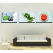 """Триптих на холсте """"Свежесть фруктов"""""""